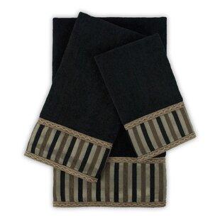 Kennewick 3 Piece Embellished Towel Set