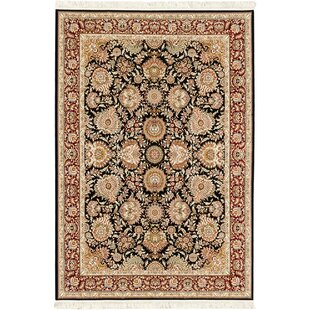Reviews Reichman Hand-Loomed Silk Black/Beige Area Rug By Astoria Grand