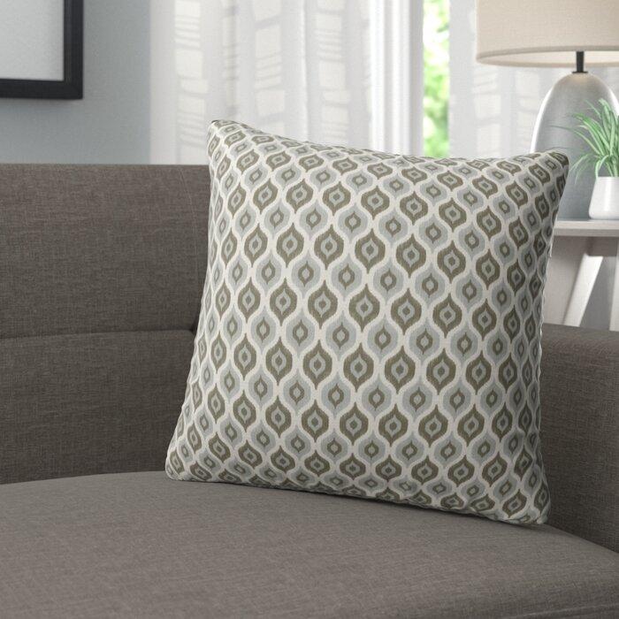 Underhill Modern Rustic Cotton Throw Pillow