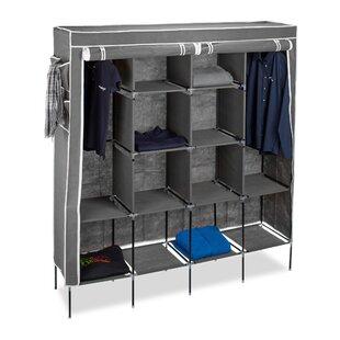 Berns 167cm Wide Portable Wardrobe By Rebrilliant
