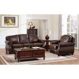 Sneyd Park 2 Piece Leather Living Room Set by Canora Grey