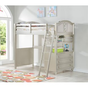 Find for Anette Loft Bed with Drawers and Bookcase by Harriet Bee Reviews (2019) & Buyer's Guide