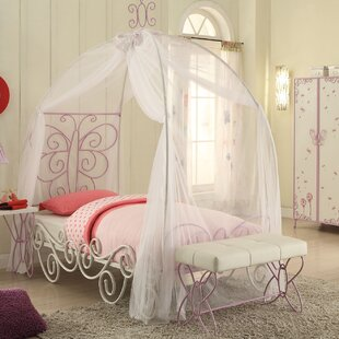 Saundra Canopy Bed by Zoomie Kids