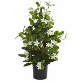 "24"" Artificial Flowering Plant in Pot"