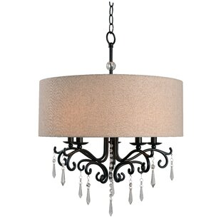 One Allium Way Alan 5-Light Drum Chandelier