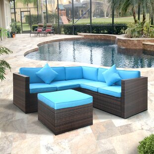 Highland Dunes Lilith Patio Sectional wit..
