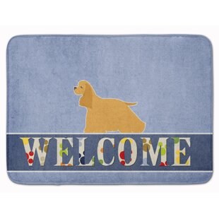 Cocker Spaniel Welcome Memory Foam Bath Rug
