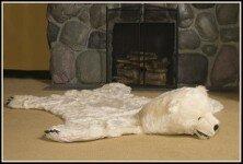 Simone Polar Bear White Area Rug ByMillwood Pines