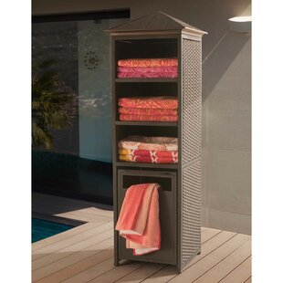 Sunjoy Donnelly Metal and Wicker Towel Valet