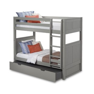 Reviews Oakwood Twin over Twin Bunk Bed with Trundle by Harriet Bee Reviews (2019) & Buyer's Guide