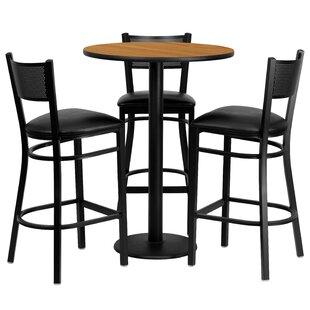 Dipesh 4 Piece Pub Table Set Red Barrel Studio