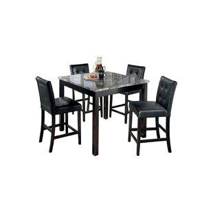 Liska 5 Piece Dining Set by Ebern Designs