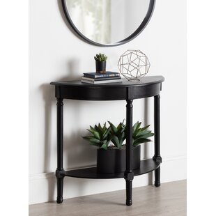 Orton Half Moon Wood Console Table