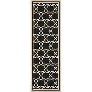 Herefordshire Black & Beige Indoor/Outdoor Area Rug by Winston Porter