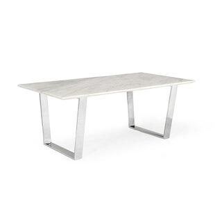 Orren Ellis Clower Marble Top Dining Table