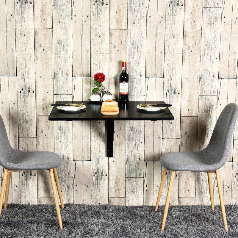 Ebern Designs Way Wick Wall Mounted Drop Leaf Dining Table Reviews Wayfair