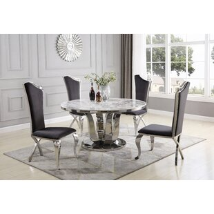 Rodrick 5 Piece Dining Set Everly Quinn