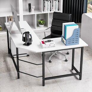 Harkey Adjustable L-Shaped Computer Desk