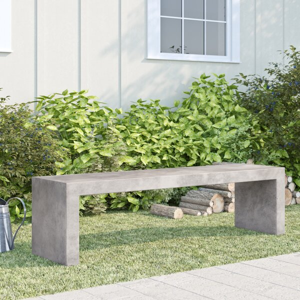 Pleasing Outdoor Concrete Bench Wayfair Evergreenethics Interior Chair Design Evergreenethicsorg