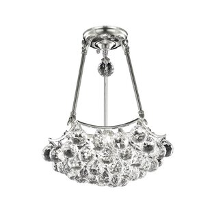 Willa Arlo Interiors Kasha 3-Light Crystal Chandelier