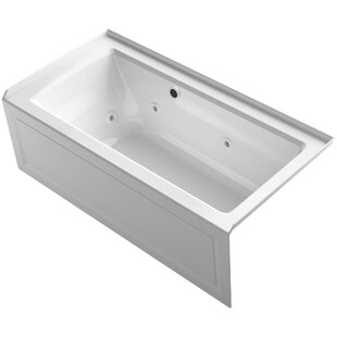 Compare prices Archer Alcove Whirlpool Bath with Bask Heated Surface, Integral Apron, Tile Flange and Right-Hand Drain ByKohler
