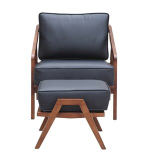 Fine Mod Imports Lounge Chair and Ottoman