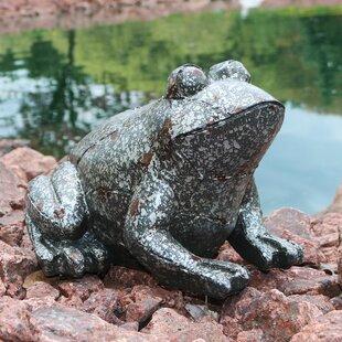 Red Barrel Studio Hathorn Weathered Sitting Frog Outdoor Statue