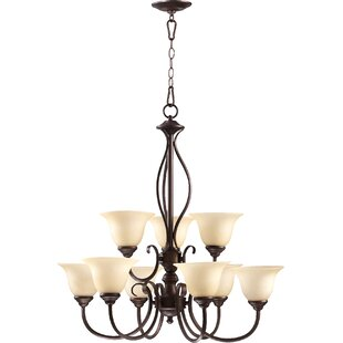 Fleur De Lis Living Bernardston 9-Light Shaded Chandelier
