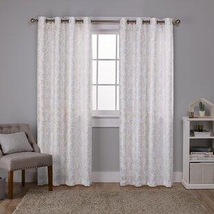 Kaia Floral Room Darkening Thermal Grommet Curtain Panels (Set of 2)