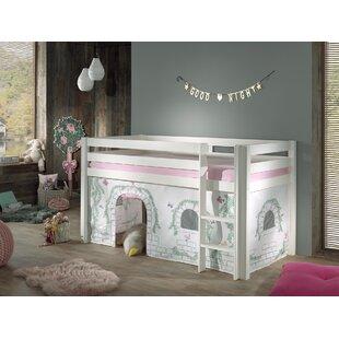 Ethridge European Single (90 X 200cm) Mid Sleeper Bed With Curtain By Zoomie Kids