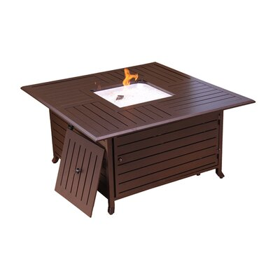 Fire Pits Aluminum Propane Fire Pit Table Signature Rattan