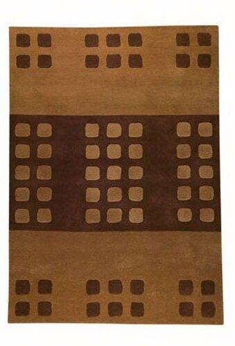 Beige/Brown Domino Area Rug
