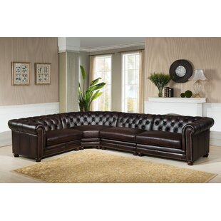 Bakersfield Leather Modular Sectional ByAmax