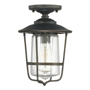 Look for Remington 1-Light Outdoor Semi Flush Mount By Birch Lane™