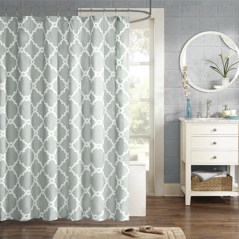 Zipcode Design Alta Microfiber Shower Curtain & Reviews   Wayfair