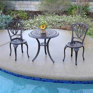 Falzone 3 Piece Bistro Set