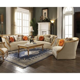 Astoria Grand Neece 3 Piece Living Room Set