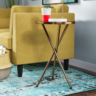 Klinger Modern Metal End Table by Everly Quinn