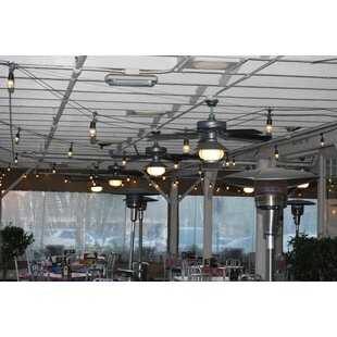 European Cafe 35 ft. 7-Light Shaded String Light