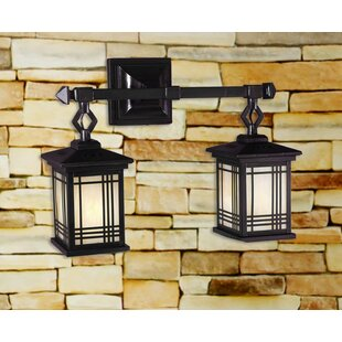 Indoor lantern wall sconce wayfair avery lantern 2 light wall sconce aloadofball Choice Image