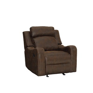 Williston Forge Candida Curved Track Arms Glider Recliner