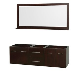 Centra 71 Double Bathroom Vanity Base by Wyndham Collection