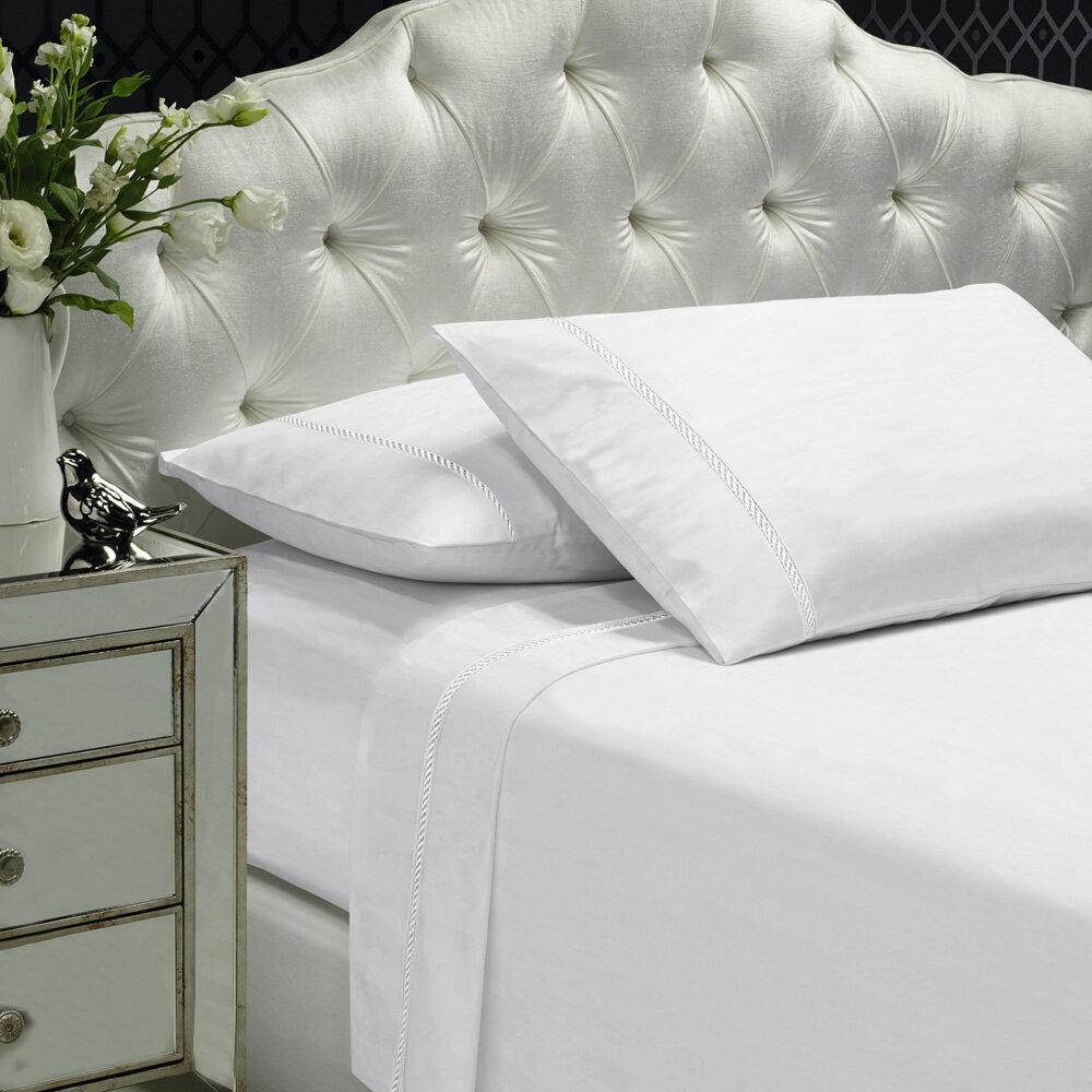 Alcott Hill Coeur Embellished 400 Thread Count 100 Cotton Sheet Set Reviews Wayfair