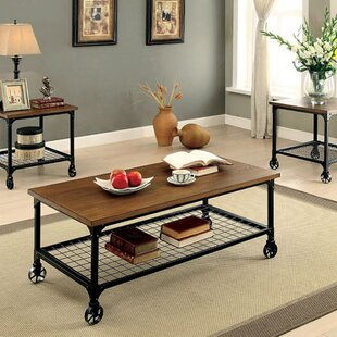 Leong 3 Piece Coffee Table Set