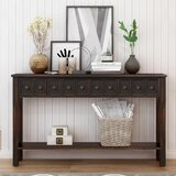 Sofia 60.03 Solid Wood Console Table by Rosalind Wheeler