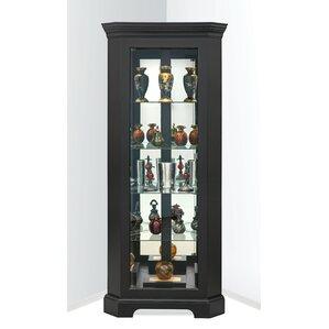 Newport II Lighted Corner Curio Cabinet b..