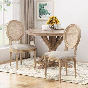Evelina Solid Wood Dining Chair (Set of 2) One Allium Way