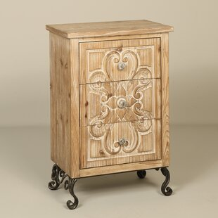 Erskine 3 Drawer Nightstand
