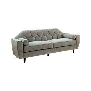 Sariah Tufted Sofa With Rolled Pillows by Corrigan Studio