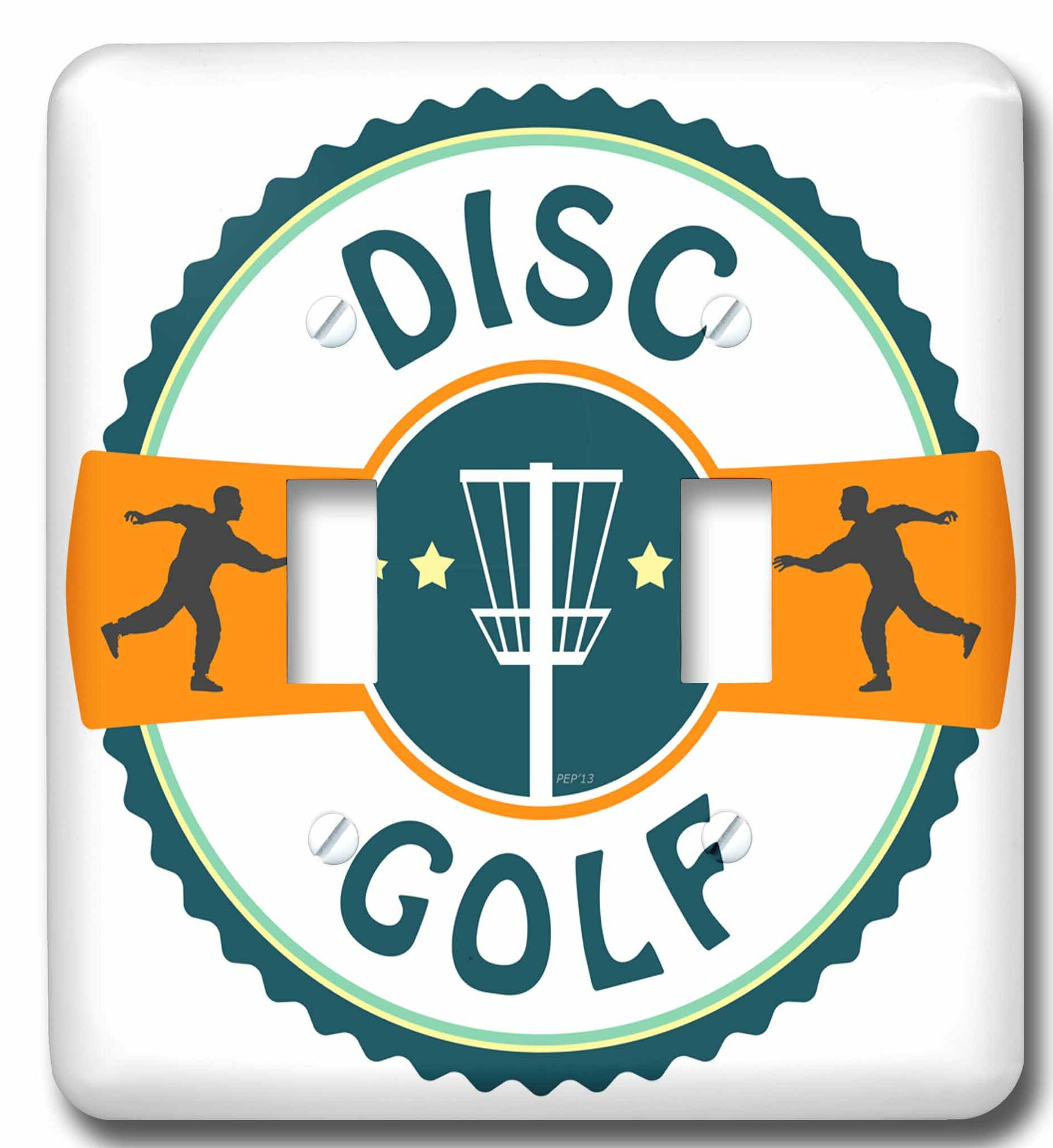 3drose Disc Golf Silhouette Of Putters Throwing At A Disc Golf Basket 2 Gang Toggle Light Switch Wall Plate Wayfair
